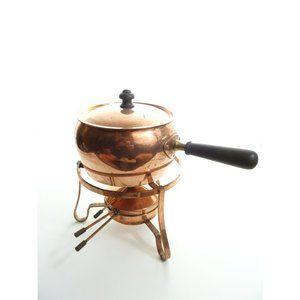 Vintage Copper Pot w/Lid Short Handle Japan